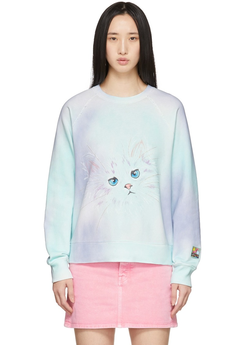 Marc Jacobs Purple & Multicolor 'The Airbrushed' Sweatshirt
