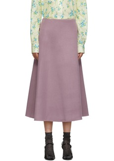 Marc Jacobs Purple Double Faced Skirt