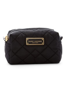 Marc Jacobs Quilted Nylon Large Cosmetic Case