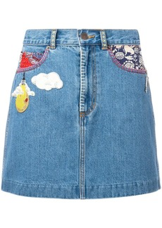 Marc Jacobs raw edge denim mini skirt