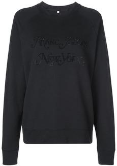 Marc Jacobs rhinestone logo sweatshirt