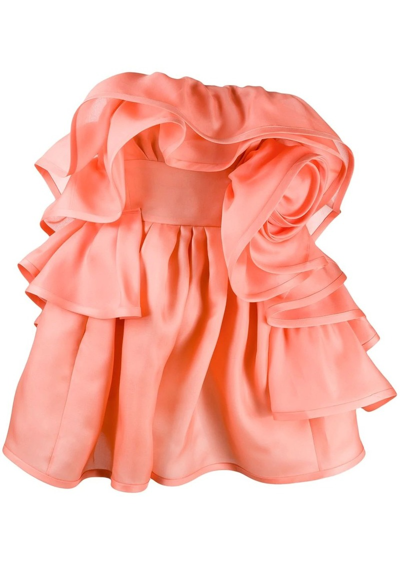 Marc Jacobs rose ruffled dress