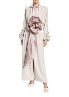 Marc Jacobs Rosette Crepe Jersey Jumpsuit