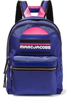 Marc Jacobs Rubber-appliquéd Leather-trimmed Shell Backpack
