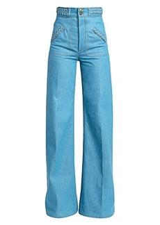 Marc Jacobs Runway Flared Braid Jeans