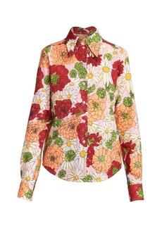 Marc Jacobs Runway Floral Button Down Shirt