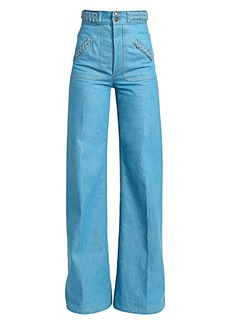 Marc Jacobs Runway High-Rise Flared Braid Jeans