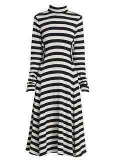 Marc Jacobs Runway Striped Wool Jersey Mockneck Dress