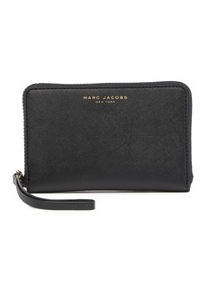 Marc Jacobs Saffiano Cell Phone Wristlet Wallet