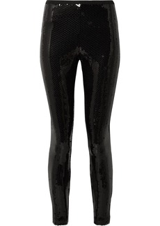 Marc Jacobs Sequined Stretch-crepe Leggings