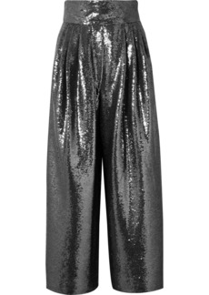 Marc Jacobs Sequined Tulle Wide-leg Pants