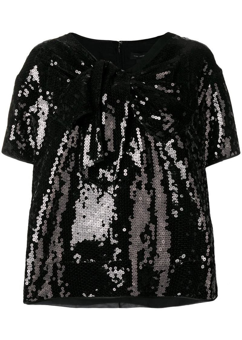Marc Jacobs sequined v-neck T-shirt