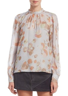 Marc Jacobs Silk Floral-Print Blouse