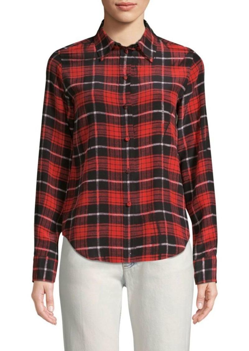 6bf416666d62e Marc Jacobs Silk Plaid Shirt