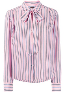 Marc Jacobs silk striped pussy bow blouse
