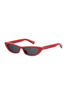Marc Jacobs Slim Cat-Eye Acetate Sunglasses