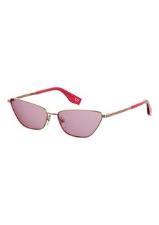 Marc Jacobs Slim Metal Cat-Eye Sunglasses
