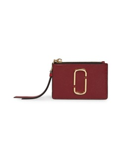 Marc Jacobs Small The Snapshot Zip Leather Card Case