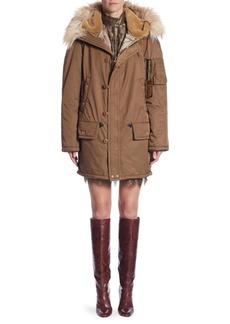 Marc Jacobs Snorkel Faux Fur-Accented Parka
