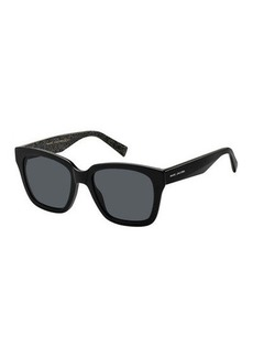 Marc Jacobs Square Mirrored Sunglasses w/ Glittered Interior