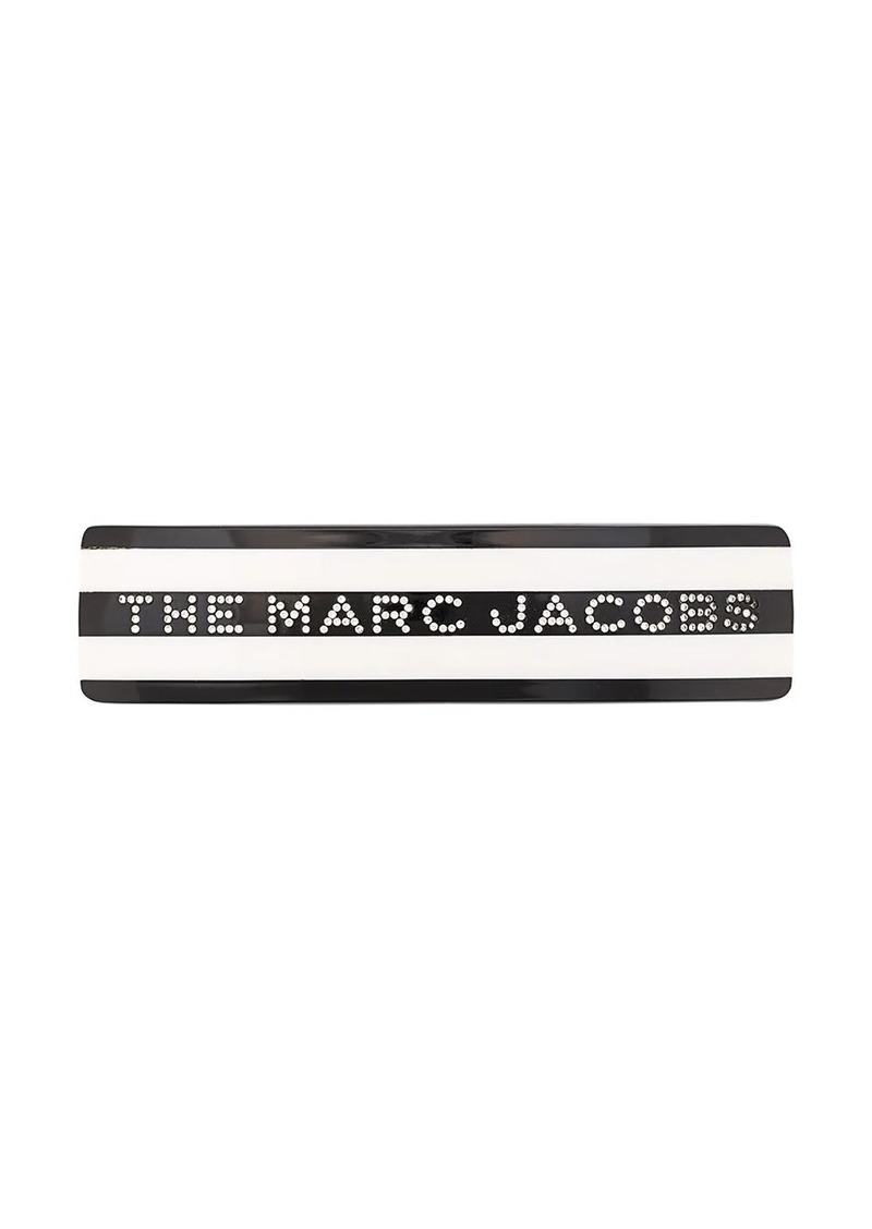 Marc Jacobs striped logo hair clip