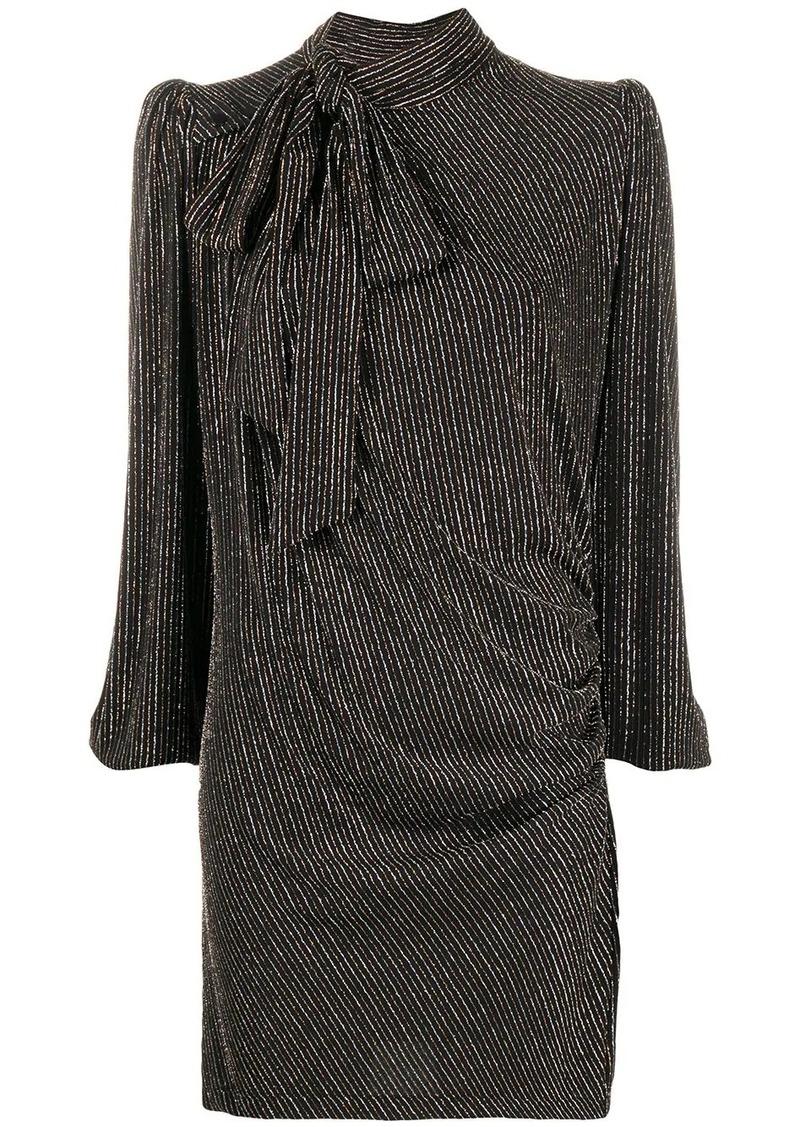 Marc Jacobs striped lurex mini dress