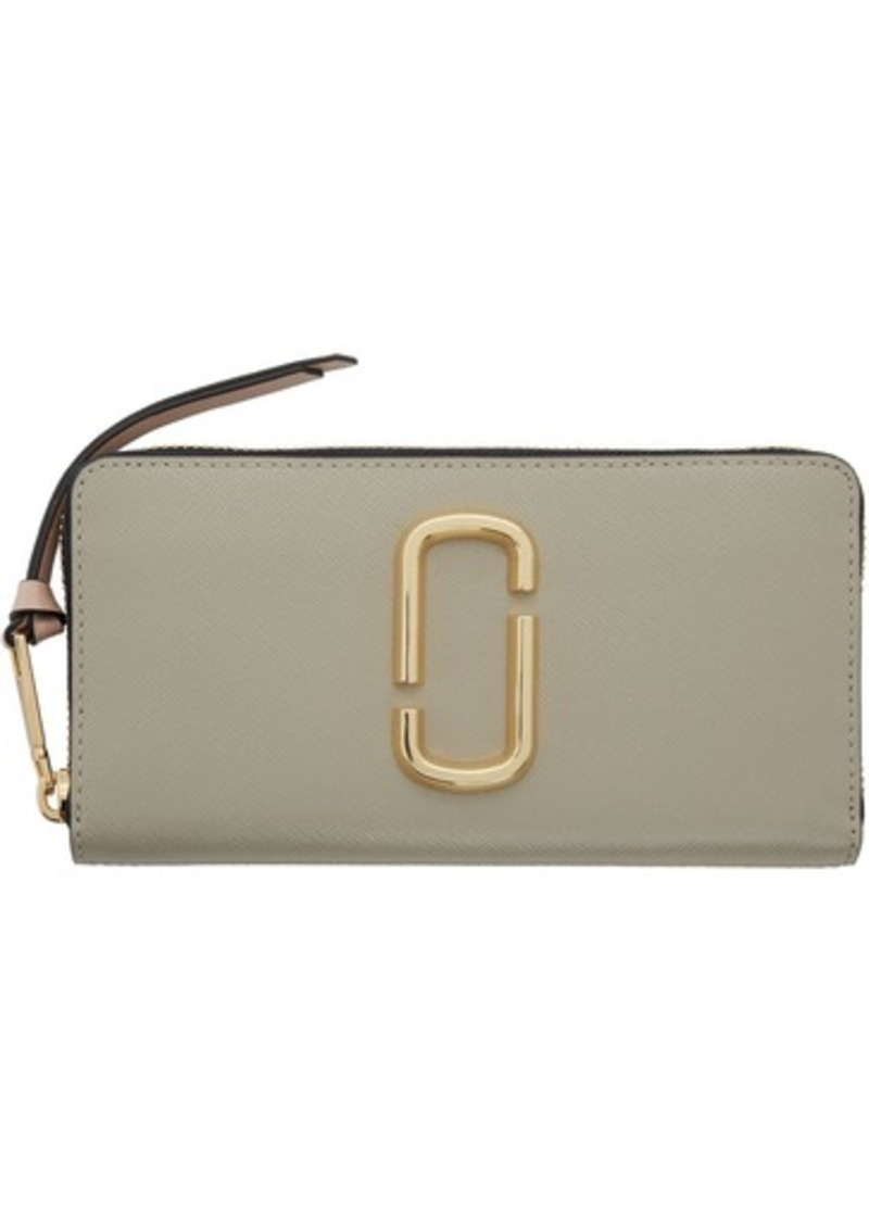 Marc Jacobs Taupe & Beige Snapshot Standard Continental Wallet