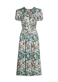 Marc Jacobs The 40s Short-Sleeve Midi Dress