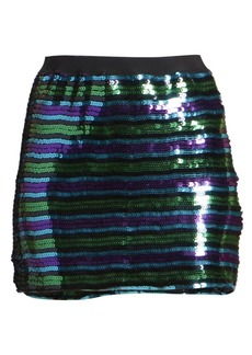Marc Jacobs The Disco Sequin Stripe Mini Skirt