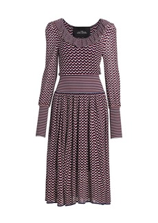 Marc Jacobs The Knit Blouson-Sleeve Midi Dress