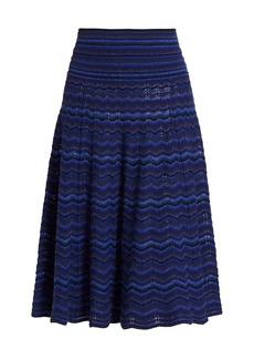 Marc Jacobs The Knit Printed Wool Midi Skirt