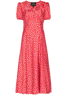 Marc Jacobs The Love heart-print midi dress