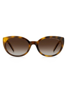 The Marc Jacobs 55mm Polarized Gradient Cat Eye Sunglasses
