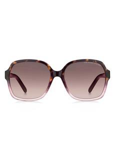 The Marc Jacobs 57mm Gradient Square Sunglasses