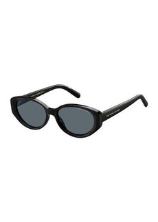 The Marc Jacobs Oval Acetate Sunglasses