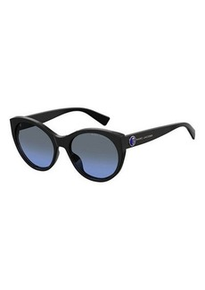 The Marc Jacobs Round Acetate Sunglasses w/ Logo Temples