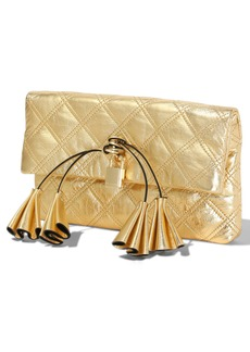 The Marc Jacobs Sofia Loves The Metallic Leather Clutch