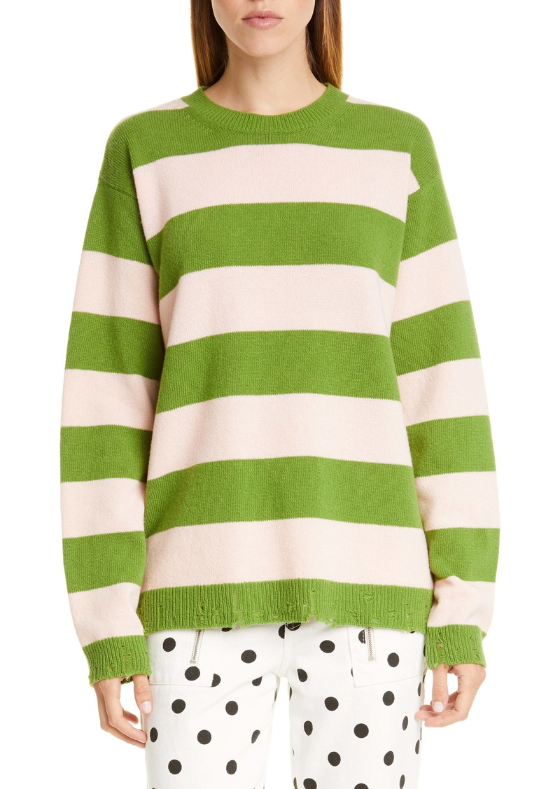 The Marc Jacobs The Grunge Stripe Wool Sweater