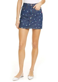 The Marc Jacobs The Mini Floral Print Denim Skirt