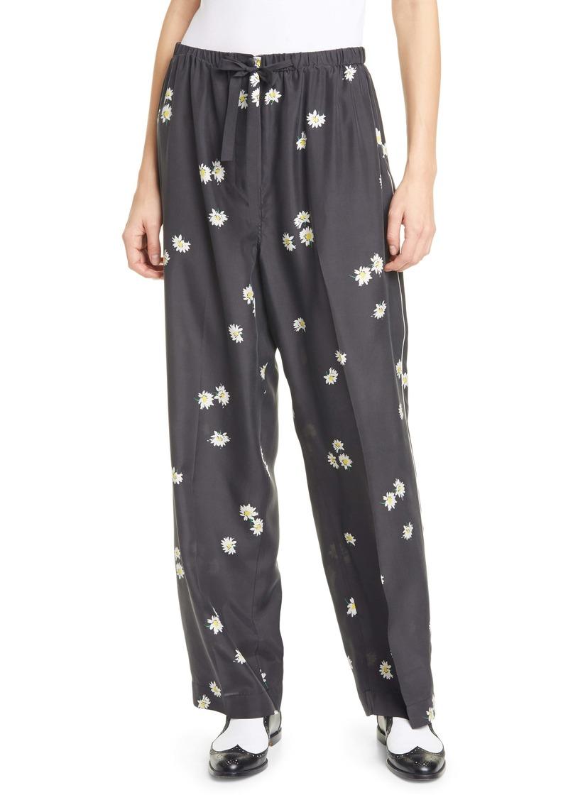 THE MARC JACOBS The Pajama Daisy Print Silk Pants