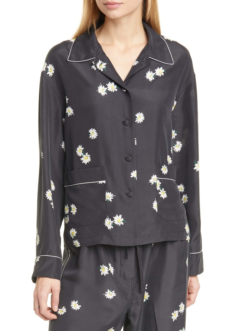 THE MARC JACOBS The Pajama Daisy Print Silk Shirt