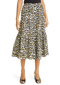 The Marc Jacobs The Prairie Leopard Print Midi Skirt