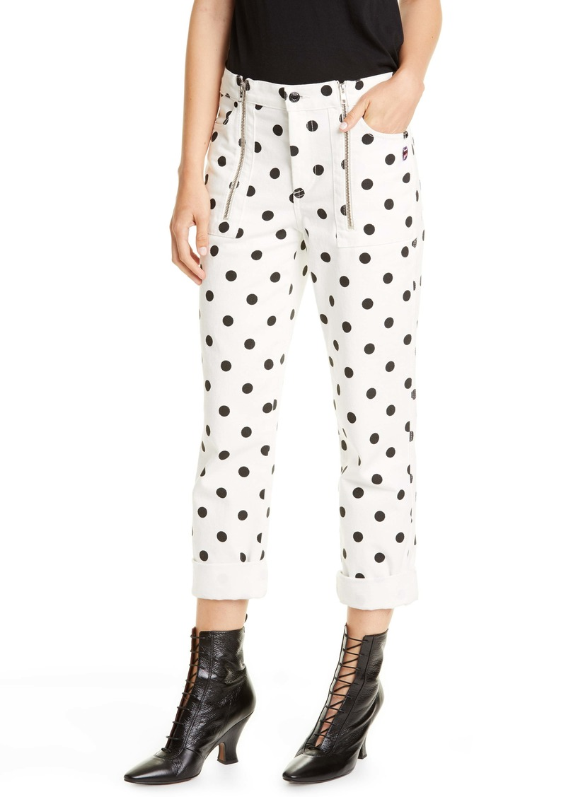 THE MARC JACOBS The Turn Up Polka Dot Jeans