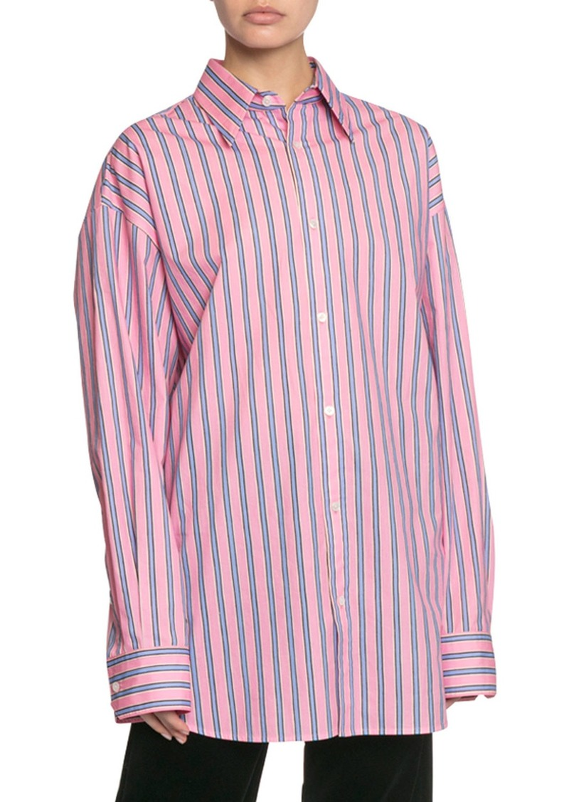 Marc Jacobs The Men's Striped Button-Down Cotton Shirt