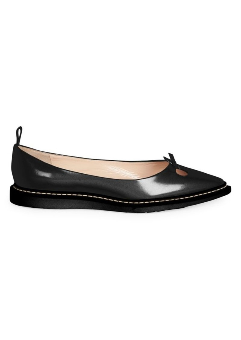 Marc Jacobs The Mouse Leather Point Toe Flats