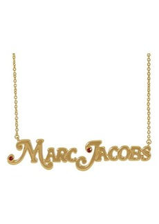 Marc Jacobs The Nameplate Necklace MJ Small Necklace