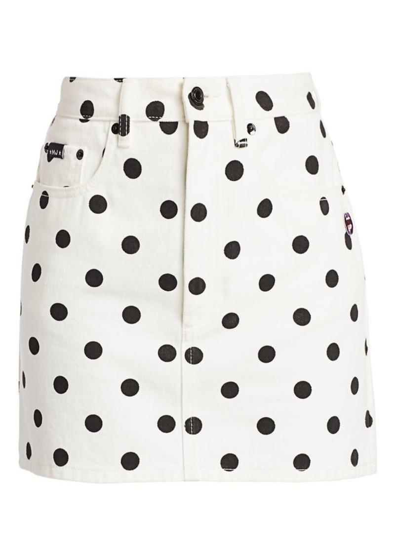 Marc Jacobs The Polka Dot Denim Mini Skirt