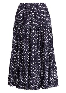 Marc Jacobs The Polka Dot Midi Prairie Skirt