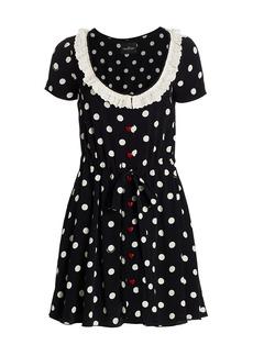 Marc Jacobs The Polka Dot Scoopneck Dress