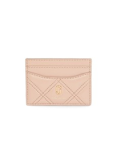 Marc Jacobs The Quilted Softshot Leather Card Case